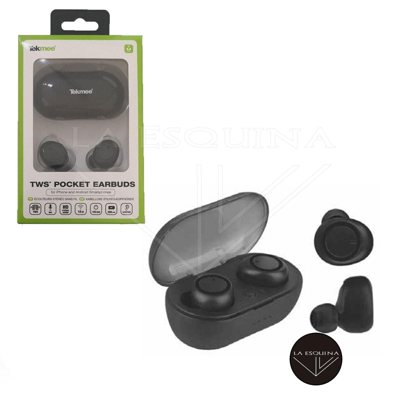Auriculares TEKMEE Pocket Earbuds B.T 5.0