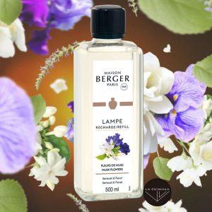 recambio lampe berger fleur de musc 500ml aroma jazmin nardo