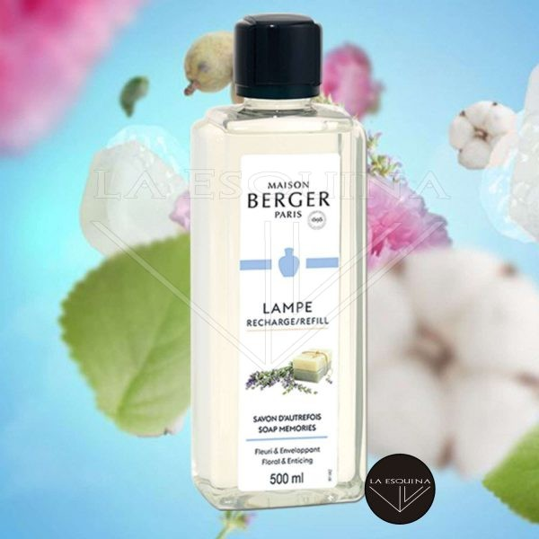 Parfum de Maison LAMPE BERGER Savon d'Autrefois 500ml aroma jabon y azahar