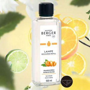 Parfum de Maison LAMPE BERGER Orange Extrême 500ml,aroma a naranja fresca y vainilla