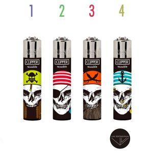 Encendedor Recargable CLIPPER Skull Mix 2