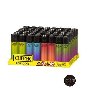 Caja De 48 Encendedores Recargables CLIPPER Crystal Gradient
