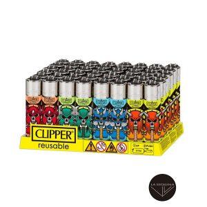 Caja Encendedores Recargable CLIPPER Skull Mix 1