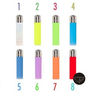 Encendedor Recargable CLIPPER Colores Transparentes