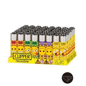Caja De 48 Encendedores Recargables CLIPPER Crazy Emoji
