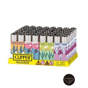 Caja De 48 Encendedores Recargables CLIPPER Spiky Cactus