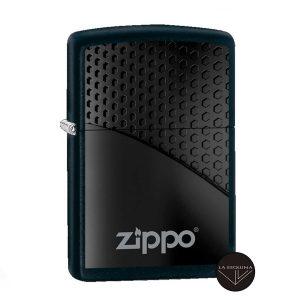 ZIPPO Black Hexagon Design