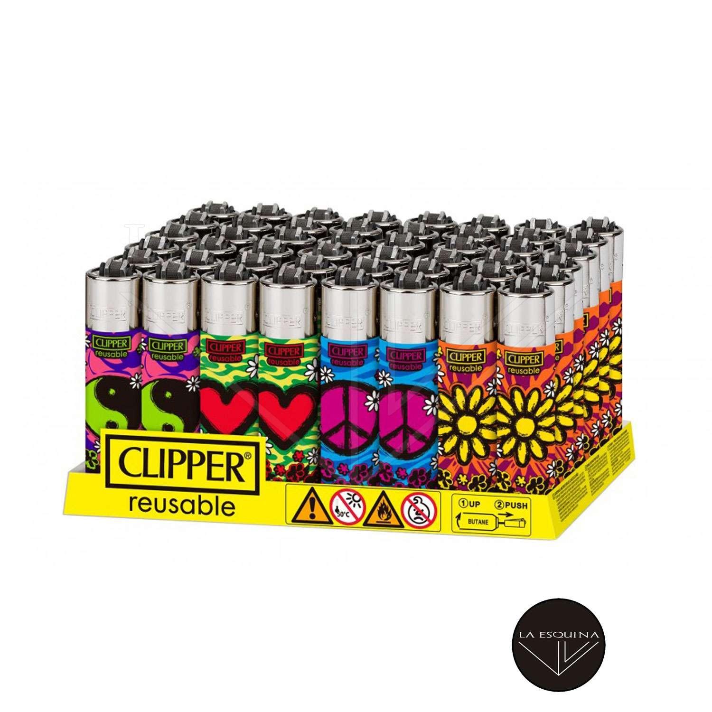 Caja De Encendedor Recargable CLIPPER Hippie Party 3