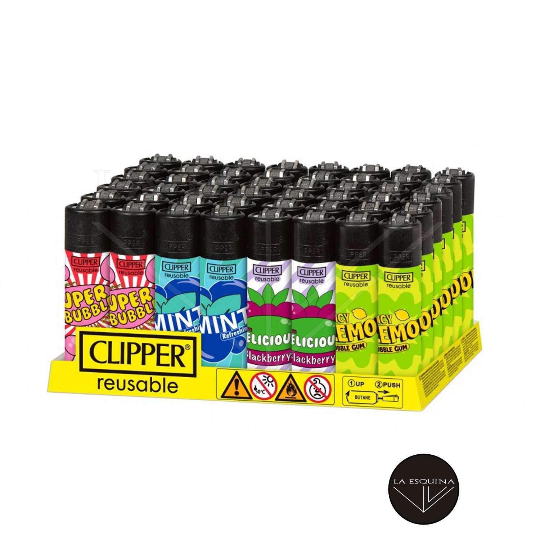 Caja De Encendedor Recargable CLIPPER Chewing Gum 2