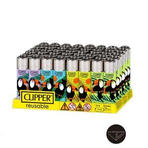 Caja De Encendedor Recargable CLIPPER Tucan life